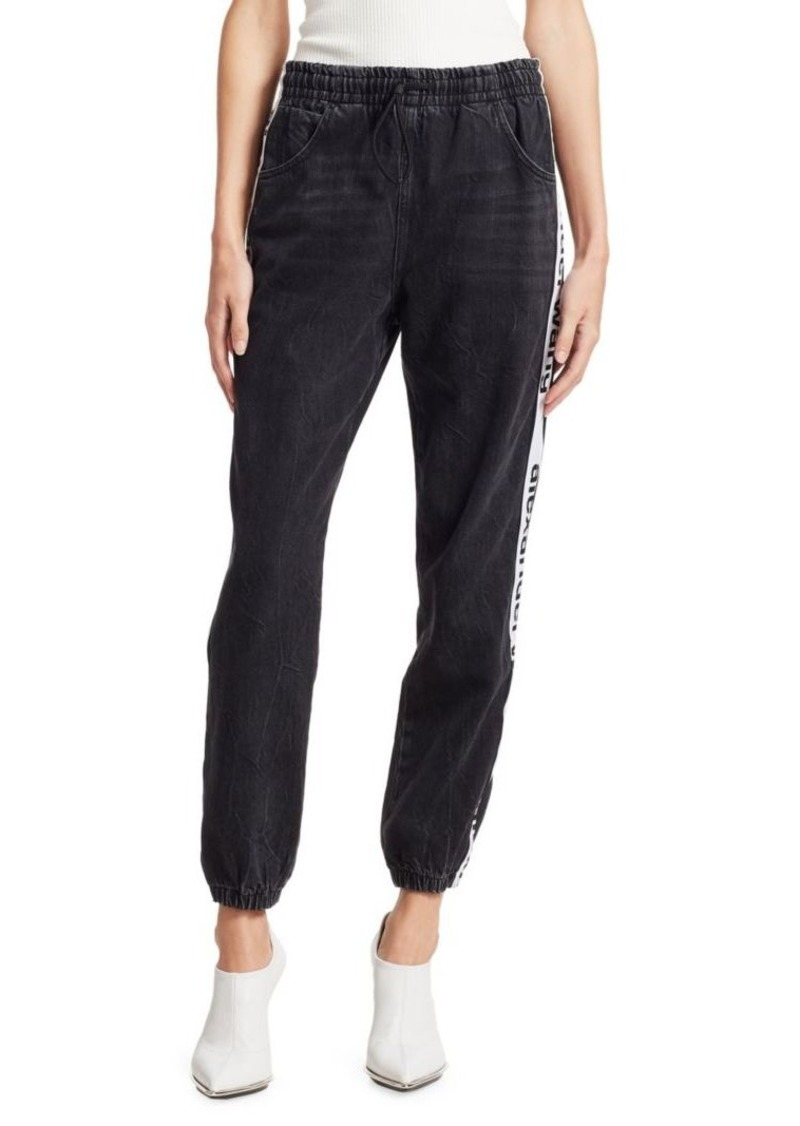 T by Alexander Wang Logo Denim Joggers