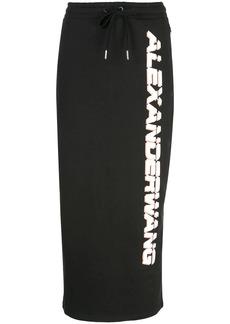 Alexander Wang logo drawstring skirt