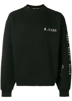 Alexander Wang logo embellished sweatshirt