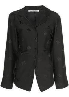 Alexander Wang logo embroidered blouse