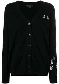 Alexander Wang logo embroidered cardigan