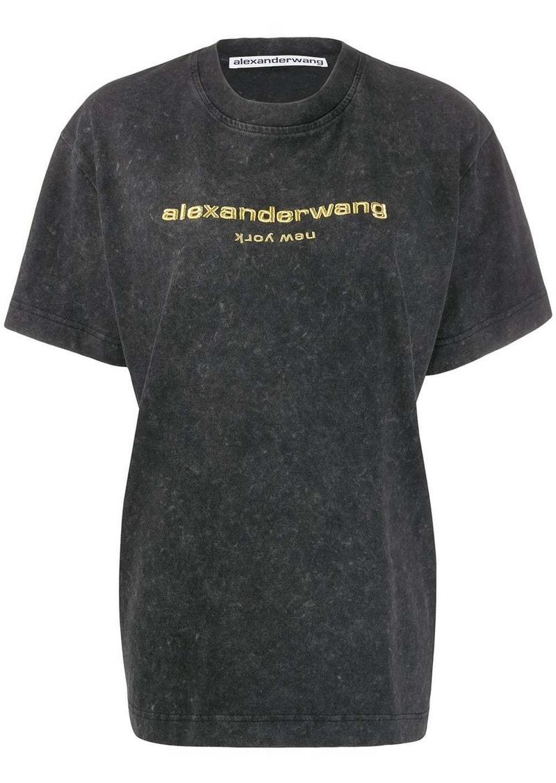 Alexander Wang logo embroidered T-shirt