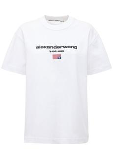 Alexander Wang Logo Embroidery Cotton T-shirt