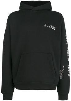Alexander Wang logo hooded sweatshirt