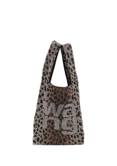 Alexander Wang logo leopard print shoulder bag