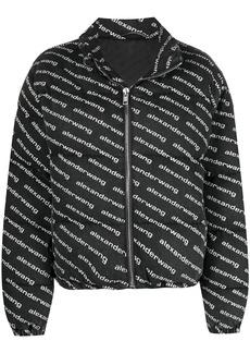 Alexander Wang logo-print zip-up jacket