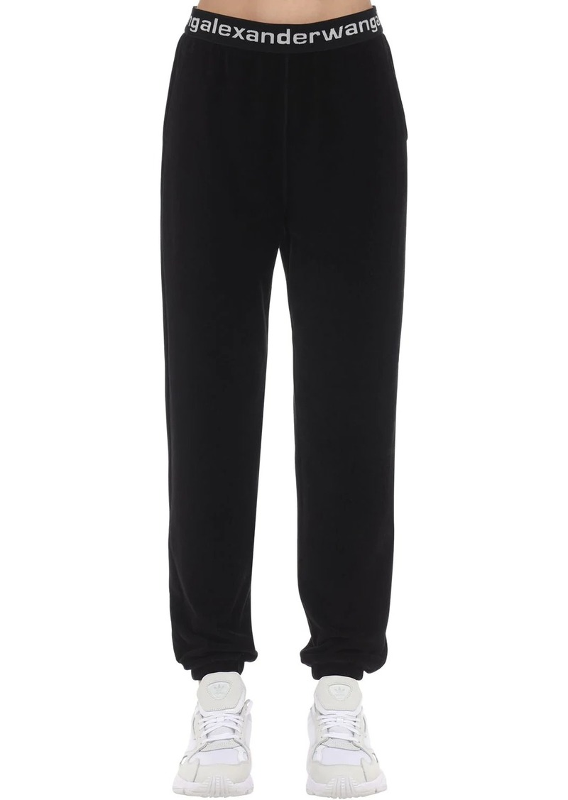 Alexander Wang Logo Stretch Cotton Blend Corduroy Pants