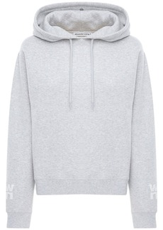 Alexander Wang Logo Stretch Cotton Sweatshirt Hoodie