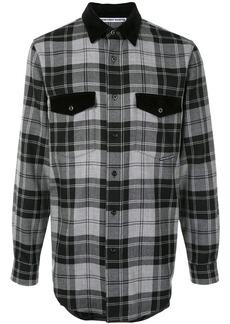 Alexander Wang long sleeve checked print shirt