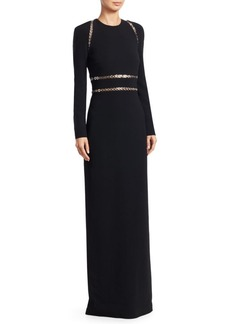 Alexander Wang Long Sleeve Grommet Column Gown