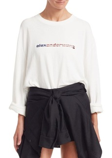 Alexander Wang Long-Sleeve Logo Tee
