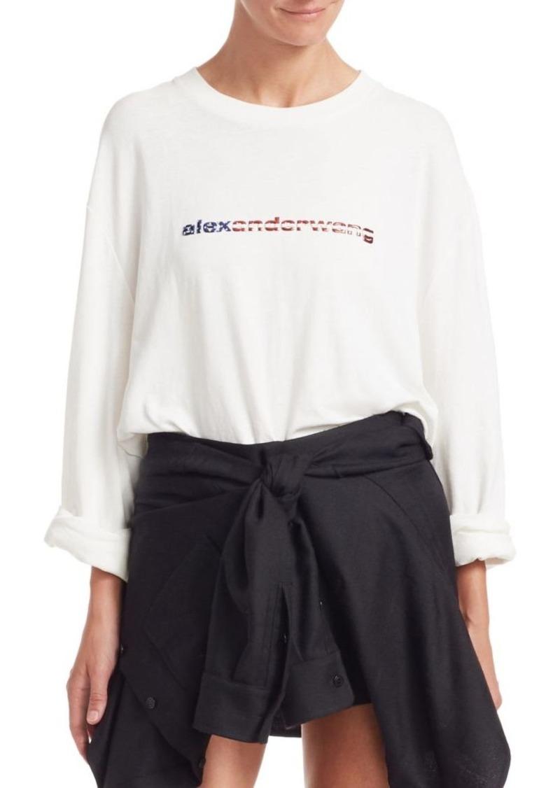 Alexander Wang Long-Sleeve Logo Tee