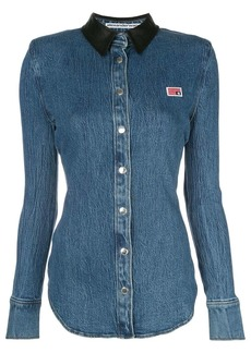 Alexander Wang long sleeve slim-fit denim shirt