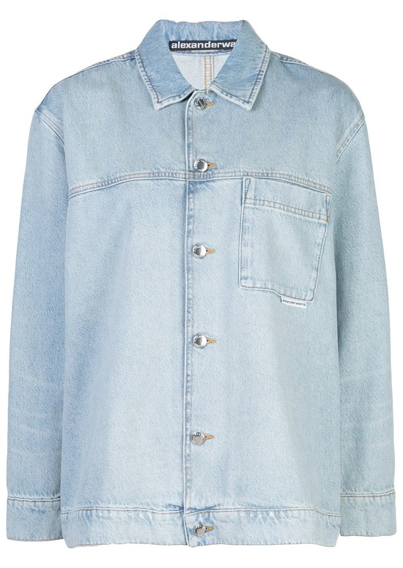 Alexander Wang long sleeved denim shirt