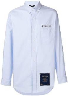Alexander Wang longline logo embroidered shirt