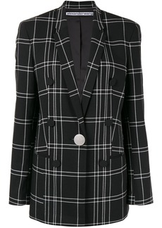 Alexander Wang loose-fit plaid blazer