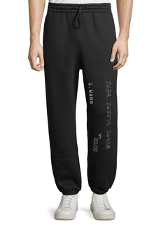 Alexander Wang Men's Credit Card Decal Sweatpants