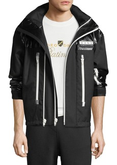 Alexander Wang Men's Double-Face Cotton Jacket w/ Silicon Patch