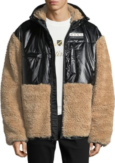 Alexander Wang Men's Shearling Coat with Silicone Patch