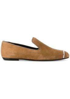 Alexander Wang metallic bar loafers