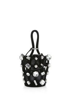 Alexander Wang Micro Roxy Jewelled Leather Cage Bucket Bag