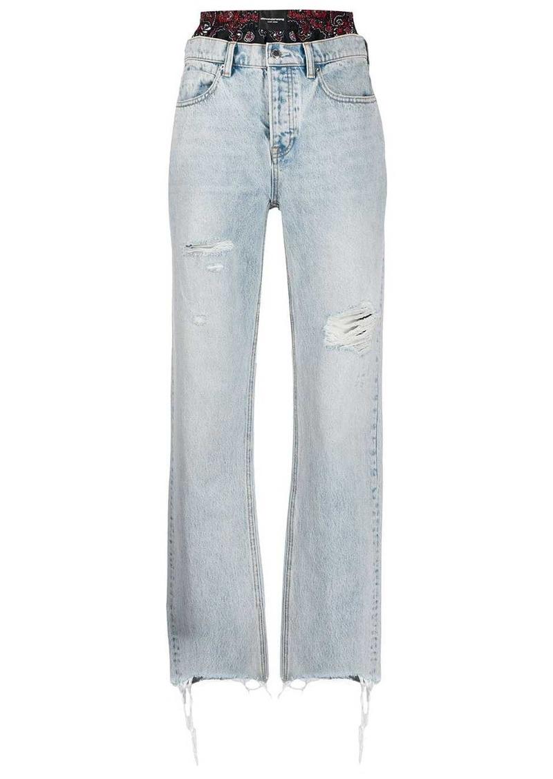 Alexander Wang mid-rise wide-leg jeans