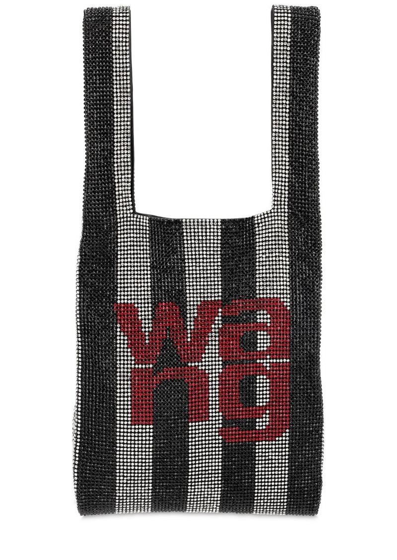 Alexander Wang Mini Wang Lock Embellished Shopper Bag