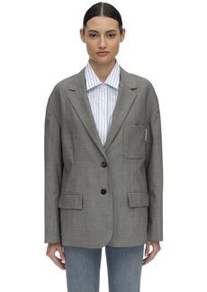Alexander Wang Mohair & Cotton Poplin Shirt & Blazer