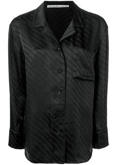 Alexander Wang monogram pyjama shirt