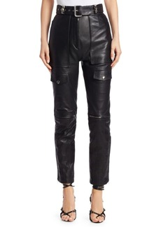 Alexander Wang Moto Leather Belted Pants