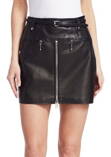 Alexander Wang Moto Leather Mini Skirt