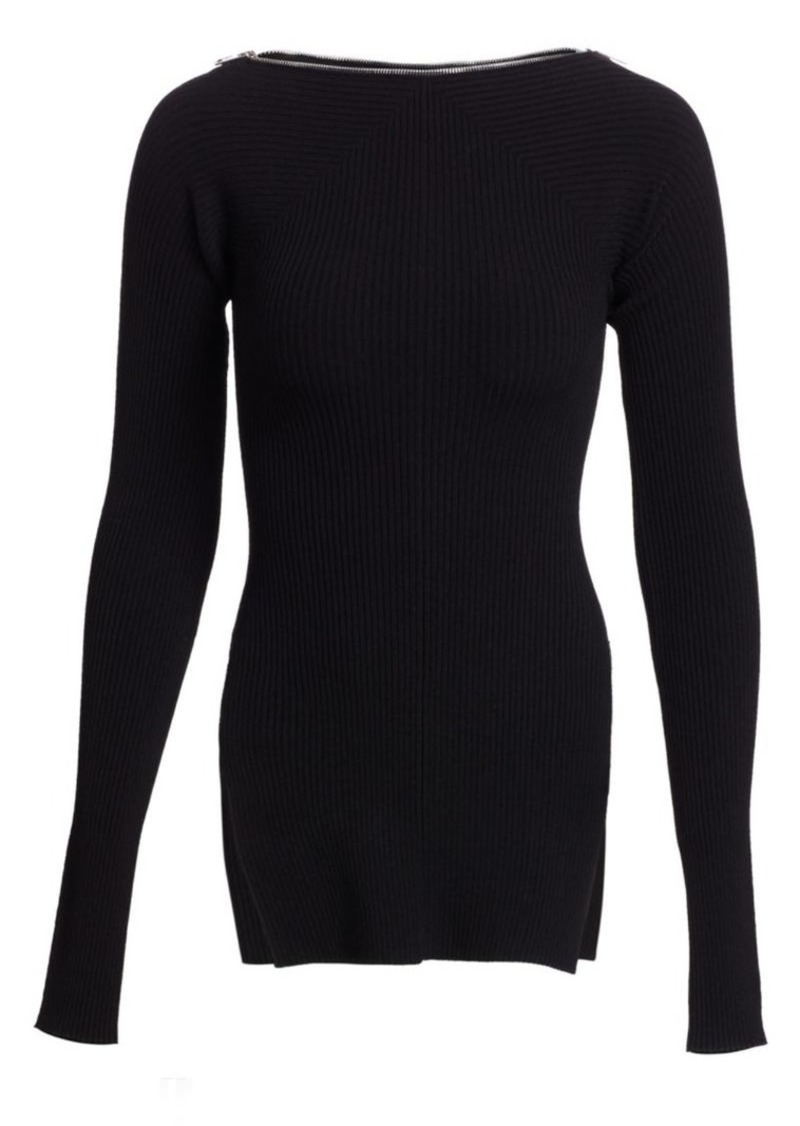 Alexander Wang Moving Rib Long-Sleeve Sweater