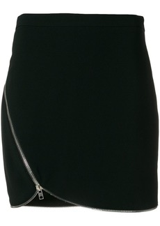 Alexander Wang off-center zipped skirt