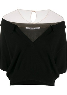 Alexander Wang off the shoulder cropped top
