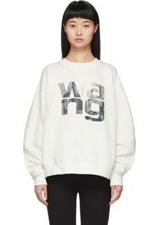 Alexander Wang Off-White Graphic Crewneck Sweatshirt