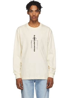 Alexander Wang Off-White Graphic Long Sleeve T-Shirt