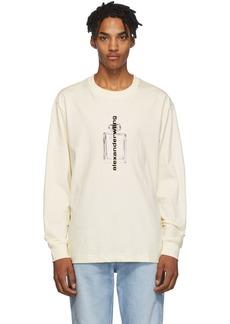 Alexander Wang Off-White Graphic Long Sleeve T-Shirt