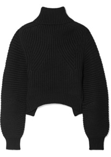 Alexander Wang Open-back Ribbed Wool Turtleneck Sweater