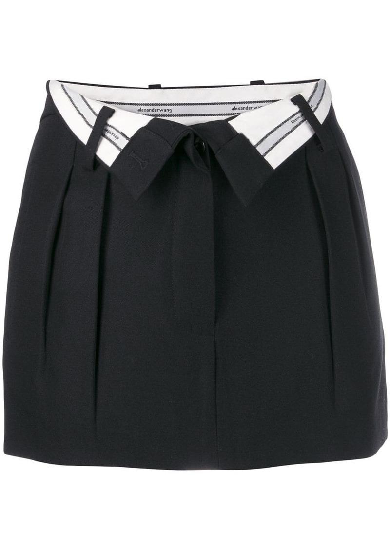 Alexander Wang open waist mini skirt