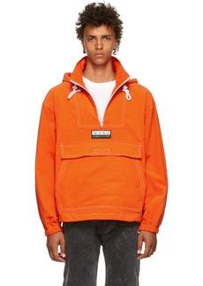 Alexander Wang Orange Baby Corduroy Anorak Jacket