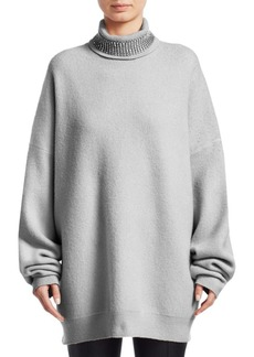Alexander Wang Oversized Crystal Turtleneck