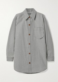 Alexander Wang Oversized Houndstooth Wool-blend Jacket