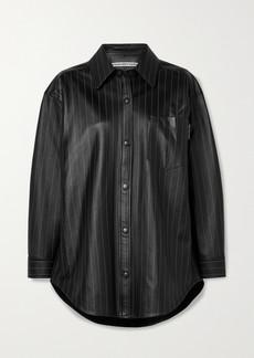Alexander Wang Oversized Pinstriped Leather Shirt