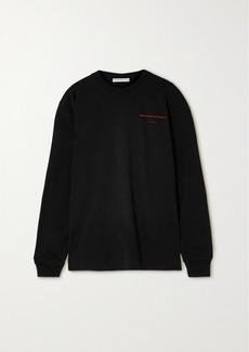 Alexander Wang Oversized Printed Cotton-jersey Sweatshirt