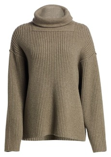 Alexander Wang Oversized Rib-Knit Funnel Neck Sweater