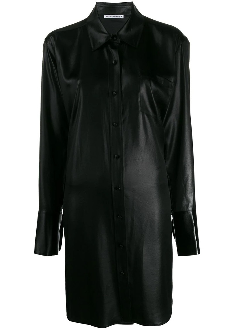 T by Alexander Wang oversized shirt dress