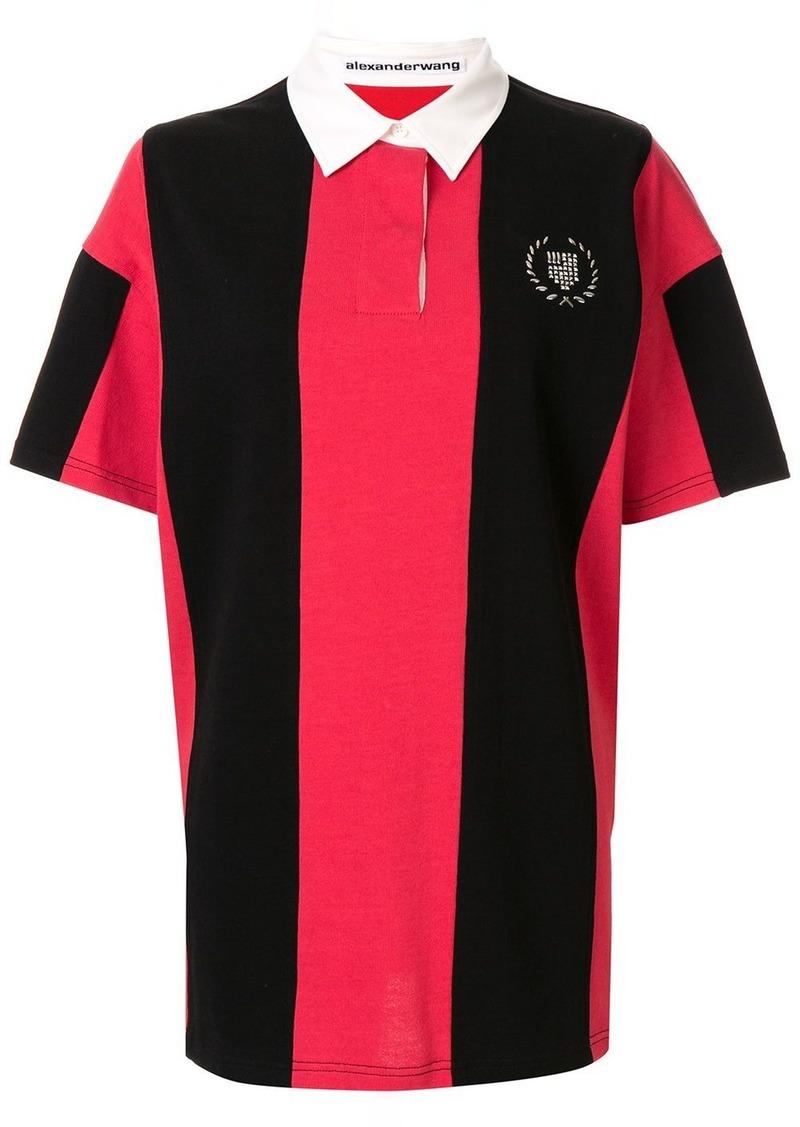 Alexander Wang oversized stud-embellished polo shirt