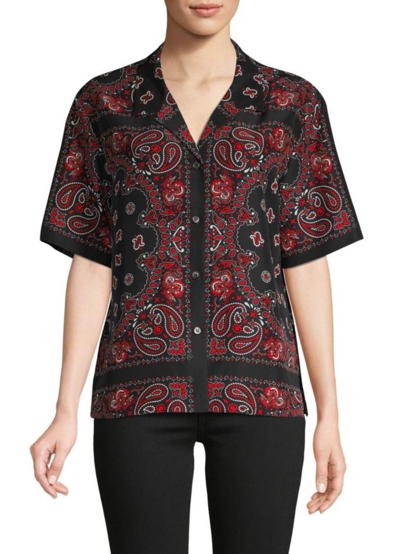 Alexander Wang Paisley-Print Silk Shirt