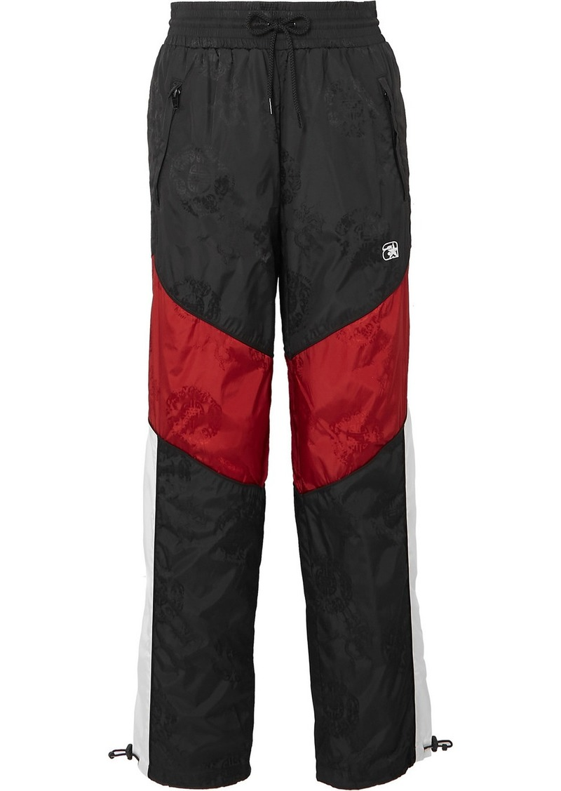 Alexander Wang Paneled Embroidered Shell-jacquard Track Pants