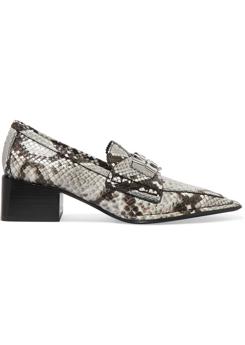 Alexander Wang Parker Embellished Snake-effect Leather Pumps